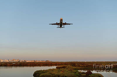 Photograph - Airplane Approaching Faro Airport by Angelo DeVal