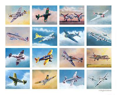 Painting - Airplane Poster by Douglas Castleman