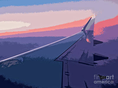 Wall Art - Digital Art - Airplane Wing Abstract by Roslyn Wilkins