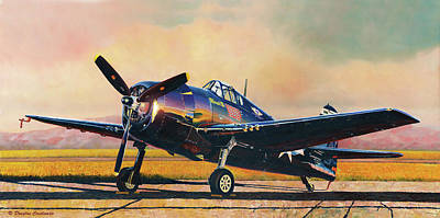 Painting - Airshow Hellcat by Douglas Castleman