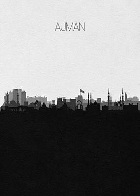 Digital Art - Ajman Cityscape Art by Inspirowl Design