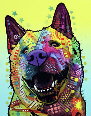 Painting - Akita  by Dean Russo Art