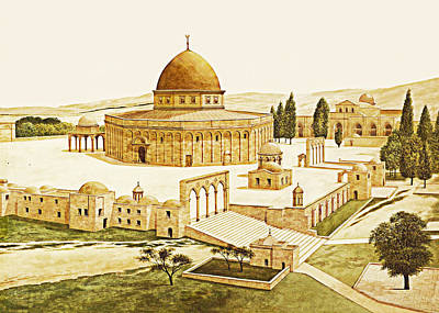 Photograph - Al Aqsa 1880 by Munir Alawi