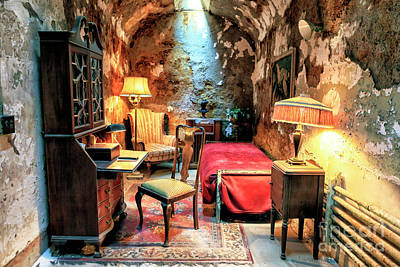 Photograph - Al Capone's Cell At Eastern State Penitentiary by John Rizzuto