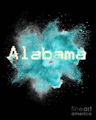 Digital Art - Alabama Powder Explosion by Valerie Garner