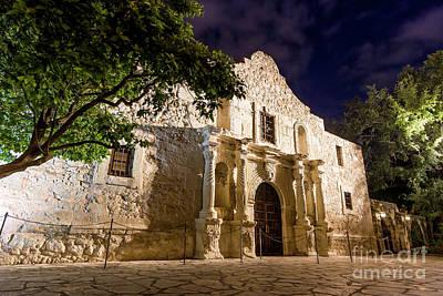 Photograph - Alamo Night by Brian Jannsen
