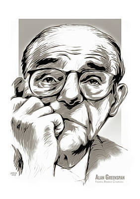 Mixed Media - Alan Greenspan by Greg Joens