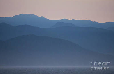 Alaska Inside Passage Mountains Art Print