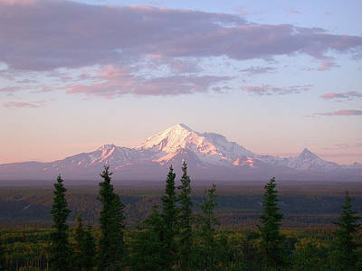 Photograph - Alaska Mountain Sunset by Mark Duehmig