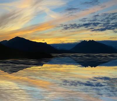 Photograph - Alaska Reflective Sunset by Joan Stratton