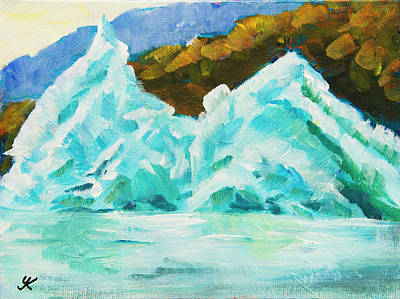 Painting - Alaskan Iceberg by Yulia Kazansky