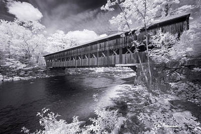 Dan Beauvais Royalty-Free and Rights-Managed Images - Albany Covered Bridge 7640 by Dan Beauvais