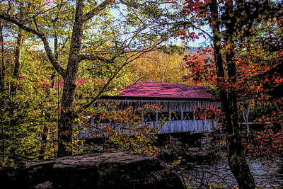 Photograph - Albany New Hampshire Covered Bridge by Jeff Folger
