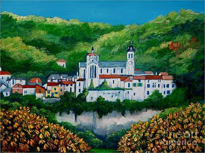 Painting - Albas Village by Jean Pierre Bergoeing
