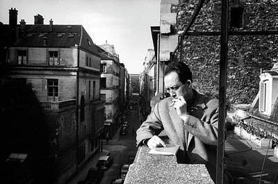Balcony Photograph - Albert Camus by Loomis Dean