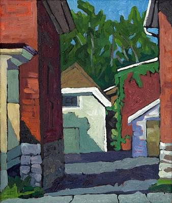 Painting - Albert Street Alley by Phil Chadwick