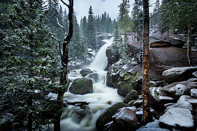 Photograph - Alberta Falls by David Morefield