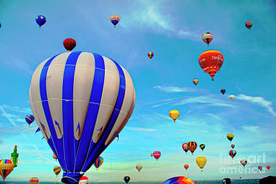 1-war Is Hell Royalty Free Images - Albuquerque Hot Air Balloons 2 Royalty-Free Image by David Zanzinger