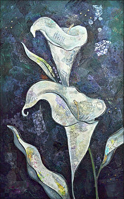 Calla Lily Wall Art - Painting - Alcatraz II by Shadia Derbyshire