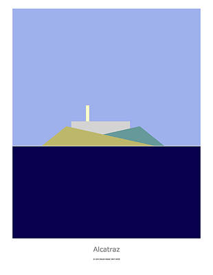 Digital Art - Alcatraz by John Steven Calder