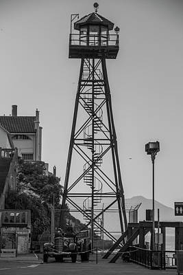 Photograph - Alcatraz Light House by Stuart Manning