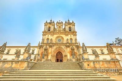 Photograph - Alcobaca Monastery Facade by Benny Marty