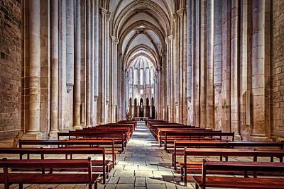 Photograph - Alcobaca Monastery Interior - Portugal by Stuart Litoff