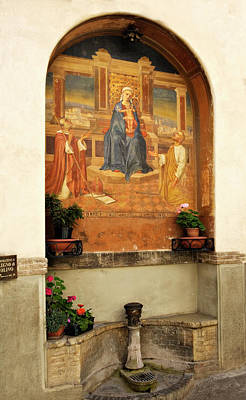 Photograph - Alcove With Mary Jesus Fresco by Marilyn Hunt
