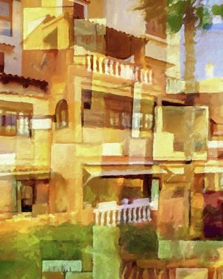 Painting - Aldea Sunny Facade by Lutz Baar
