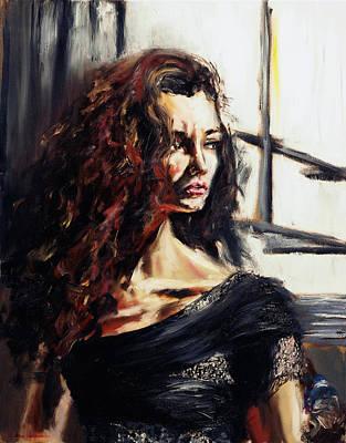 Painting - Alexa's Portrait by Ruslana Levandovska