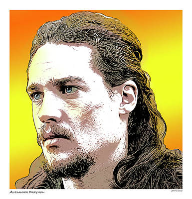 Digital Art - Alexander Dreymon by Greg Joens