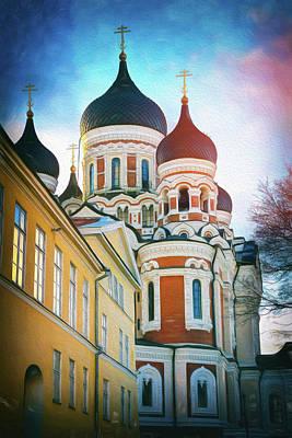 Eastern Orthodox Wall Art - Photograph - Alexander Nevsky Cathedral Tallinn Estonia  by Carol Japp