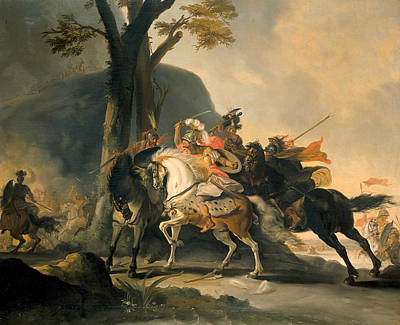 Painting - Alexander The Great In The Battle Against The Persians At The Granikos by Cornelis Troost