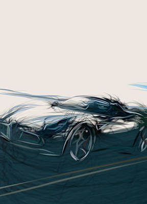 Winter Animals Rights Managed Images - alfa R C8 spider  23267 Royalty-Free Image by CarsToon Concept