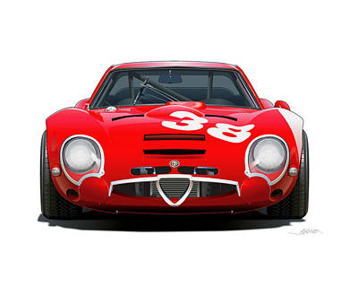 Alfa Romeo Tz No Background Original