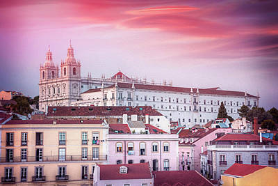 Royalty-Free and Rights-Managed Images - Alfama Rooftops Lisbon Portugal  by Carol Japp