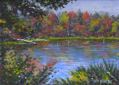 Painting - Algonquin Lake Sketch by Richard De Wolfe