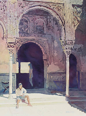Painting - Alhambra Muse by Jenny Armitage