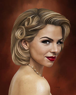 Painting - Ali Liebert - Portrait by Jordan Blackstone