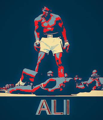 Painting - Ali Pop Art by Dan Sproul