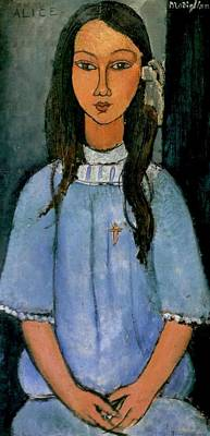 School Tote Bags Royalty Free Images - Alice - 1918 - Statens Museum for Kunst - Painting - oil on canvas Royalty-Free Image by Modigliani Amedeo