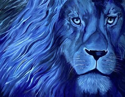 Alice B Landrum Lion Original