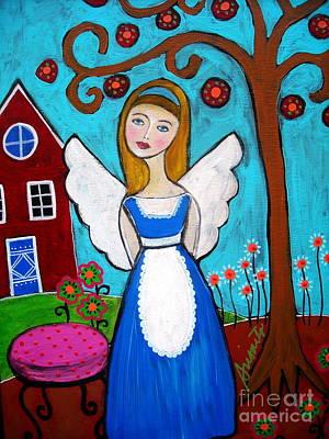 Painting - Alice In Wonderland Angel by Pristine Cartera Turkus