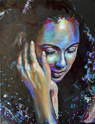 Painting - Alicia Keys Reflection by Christina Carmel