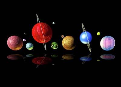 Digital Art - Alien Solar System, Artwork by Victor Habbick Visions