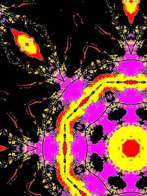 Digital Art - Alien Space Wars 3e by Artist Dot