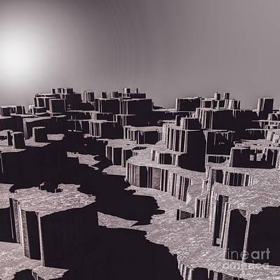 Digital Art - Alien World by Phil Perkins