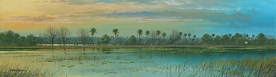 Painting - Alligator Alley by Mike Brown