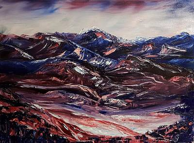 Painting - Alizarin Crimson Mountains1619 by Cheryl Nancy Ann Gordon