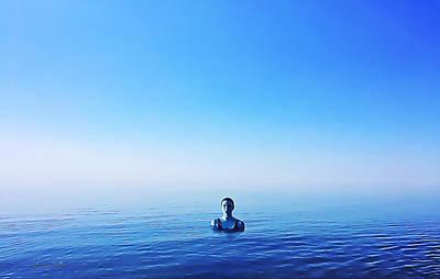 Digital Art - All Alone In The Deep Blue Sea by Chas Sinklier